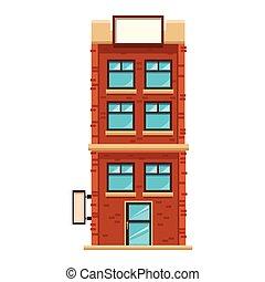 apartments building cartoon