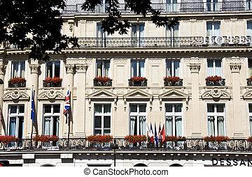 Apartments closeup in Paris