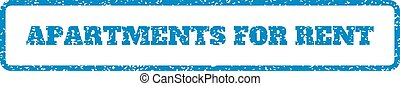 Apartments For Rent Rubber Stamp