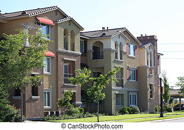Apartments - Modern apartment complex in suburban...