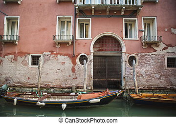 Apartments on a canal, Venice, Italy
