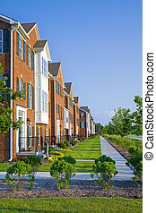 Apartments - Typical modern apartment buildings in American...
