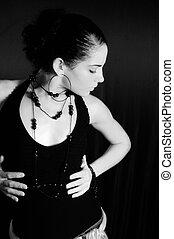 apasionado, mujer hispana