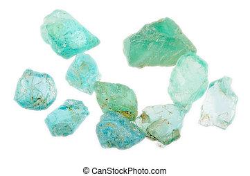 apatite, pilha, uncut, gemstones