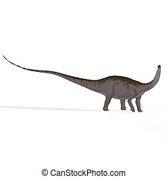 Apatosaurus aka Brontosaurus - Brontosaurus with clipping...