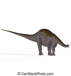 Apatosaurus aka Brontosaurus - Rendered Image of a Dinosaur...