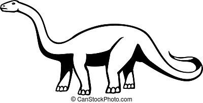 Apatosaurus - apatosaurus or brontosaurus, a long-necked...