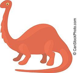 Apatosaurus dinosaur icon, cartoon style - Apatosaurus...