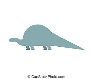 Apatosaurus dinosaur isolated. Ancient animal. Dino...