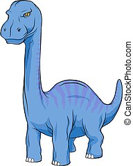 Apatosaurus Dinosaur, Long Neck Creature Monster in an...