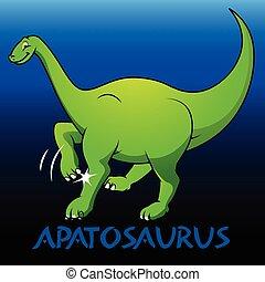 apatosaurus, schattig, dinosaurussen