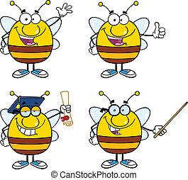 ape, caratteri, set, collezione, 1