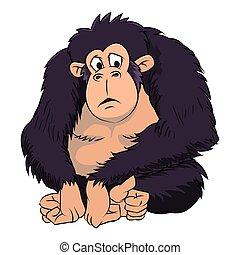 Ape Cartoon - Vector Illustration
