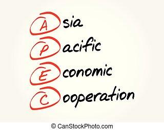 apec, acroniem, concept, -, achtergrond
