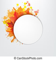 apelsin, bubbla, anförande, grunge, bakgrund