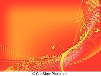 apelsin, fjäder, bakgrund