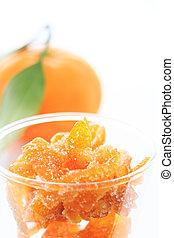 apelsin glas, /, tangerine, succade