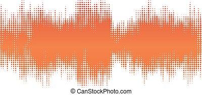 apelsin, halftone, sammandrag formge, bakgrund, in, den, bilda, av, wave.