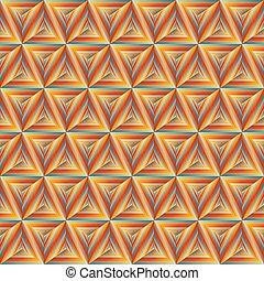 apelsin, mönster, seamless, triangulate