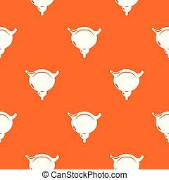 apelsin, mönster, vektor, blåsa, mänsklig