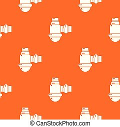 apelsin, mönster, vektor, hävert, avloppsvatten