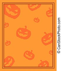 apelsin, ram, halloween, bakgrund