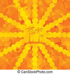 apelsin, sommar, bakgrund