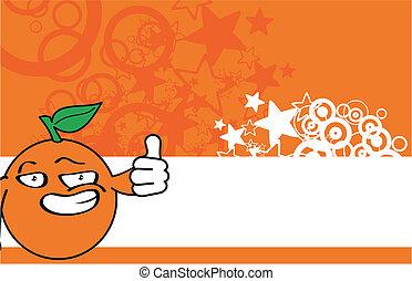 apelsin, tecknad film, background18