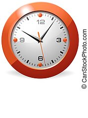 apelsin, ur, kontor, klassisk