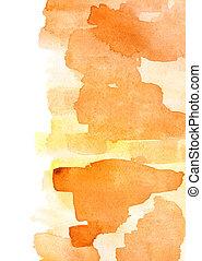 apelsin, vattenfärg, bakgrund