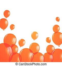 apelsin, vektor, sväller