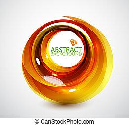 apelsin, virvla runt, abstrakt, bakgrund