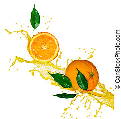apelsinsaft, isolerat, vita