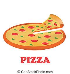 apenas, pizza