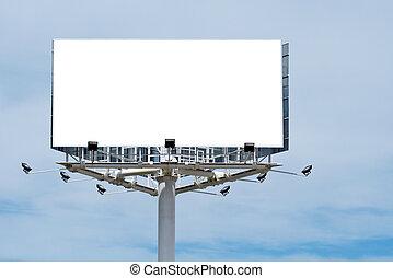 apenas, texto, adicionar, billboard, em branco, seu