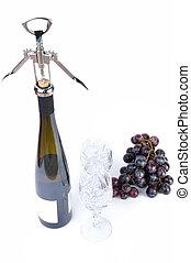 aperitive, びん, ワイン