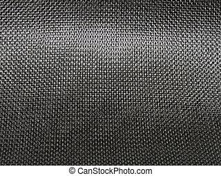 apertado, tecer, carbono, fibra, pano