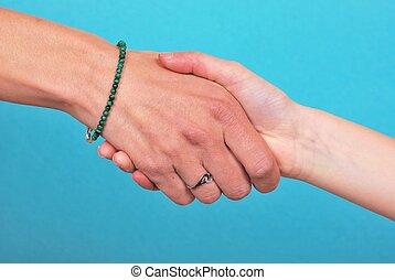 apertar mão