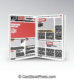 aperto, affari mondo, apertura, testo, editable, isolato,...