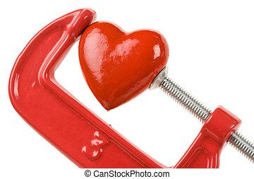 aperto, coração, vermelho, vício