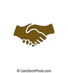 aperto mão, ícone