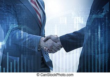 aperto mão, conceito, cooperação, negócio