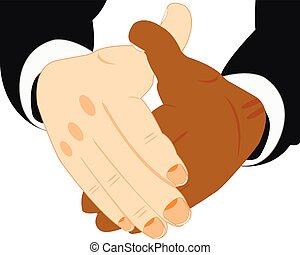 aperto mão, duas mãos