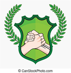 aperto mão, eco, símbolo