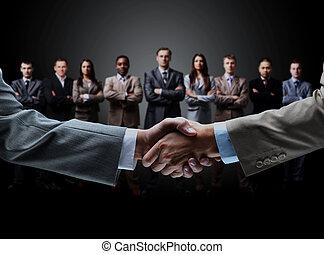 aperto mão, fundo, isolado, negócio