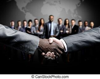 aperto mão, isolado, ligado, negócio