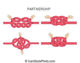 aperto mão, símbolo, formando, um, amor, heart., negócio, sociedade, junto, e, ajudando, concept.