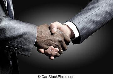 aperto mão, -, segurando mão