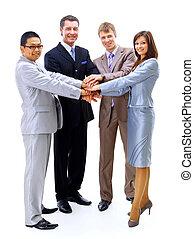 aperto mão, trabalho equipe