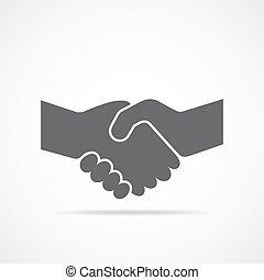 aperto mão, vetorial, icon., illustration.